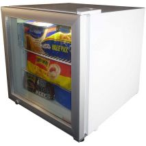 Dellware Glass Door Mini Freezer Model DW-SD50 angle