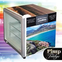 Dellware Glass Door Mini Freezer Model DW-SD50 Branded