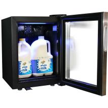 Dellware Mini Bar Coffee Fridge For Milk Model DW-SC20-Milk open