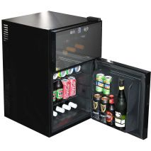 Glass Door Wine Cooler Fridges Dual Climate Underbench