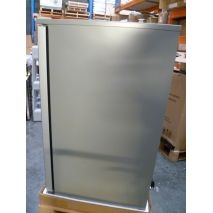 Rhino 1 Door Silver Glass Door Bar Fridge Model SG1HR-S open