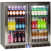 Rhino 2 Door Alfresco Outdoor Glass Door Bar Fridge  Model GSP2H-SS wide