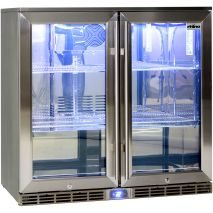 Rhino 2 Door Alfresco Outdoor Glass Door Bar Fridge  Model GSP2H-SS angle