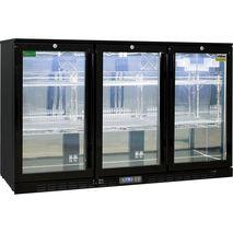 Rhino 3 Door GSP Commercial Bar Fridge - Polished S/S Inner