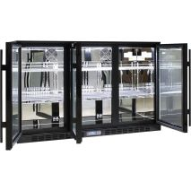 Rhino 3 Door GSP Commercial Bar Fridge - Self Closing Doors
