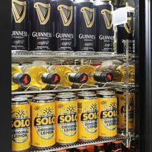 Rhino 3 Door GSP Commercial Bar Fridge - Strong S/S Clips And Chromed Shelves