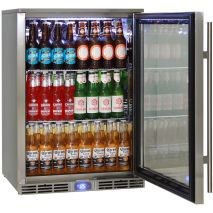 Rhino Outdoor Bar Fridge Self Closing Tempered Low E Glass Door With Lock