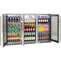 Rhino 3 Door Alfresco Outdoor Glass Door Bar Fridge Model GSP3H-SS angle