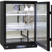 Rhino Commercial 1 Door Pub Beer Bar Fridge - Polished Stainless Interior