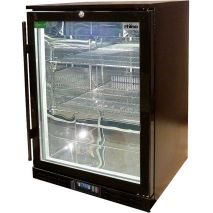 Rhino 1 Door GSP Commercial Black Under Bench Glass Door Bar Fridge Model SG1H-B angle