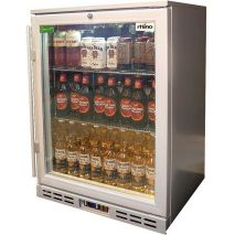 Rhino 1 Door Silver Glass Door Bar Fridge Model SG1HR-S angle
