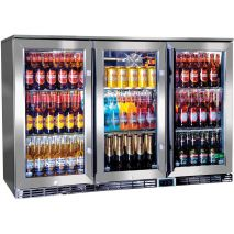 Rhino 3 Door Alfresco Outdoor Glass Door Bar Fridge Model GSP3H-SS
