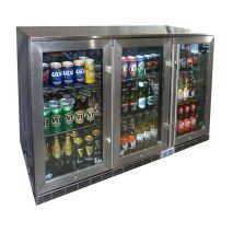 Rhino 3 Door Alfresco Outdoor Glass Door Bar Fridge Model GSP3H-SS side