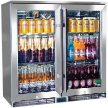 Rhino 2 Door Alfresco Outdoor Glass Door Bar Fridge  Model GSP2H-SS