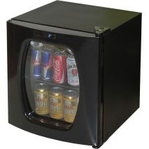 Mini Bar Fridge With Glass Door And Stainless Trim Model CTB68L-SS