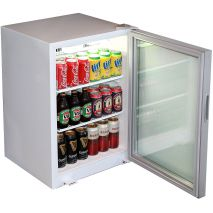 Skope Commercial Glass Door Bar Fridge Model HB80 Open