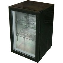 Glass Door Black Bar Fridge Model EC68 angle reverse
