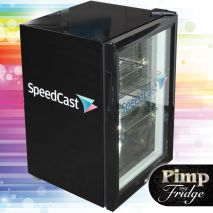 Glass Door Black Bar Fridge Model EC68 decaled