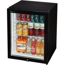 Dellware Silent Triple Glazed Glass Door Bar Fridge Model DW60T Open
