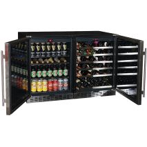 Schmick Beer And Wine Matching Indoor Quiet Running Fridge Combination Model YC150-Combo Open