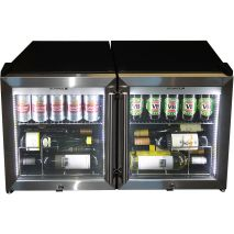 Alfresco Glass Door Triple Glazed Bar Fridge