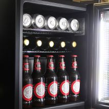 Alfresco Glass Door Triple Glazed Bar Fridge Open