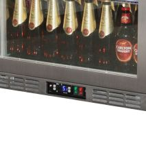 Rhino 1 Door Heated Glass Door Bar Fridge Model SG1R-SS control
