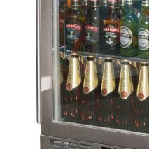 Rhino 1 Door Heated Glass Door Bar Fridge Model SG1R-SS handle