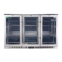 Rhino 3 Door Heated Glass Door Bar Fridge Model SG1R-SS Left Hinged