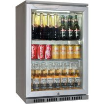 Husky Commercial Silver C1 Bar Fridge Nice Finish