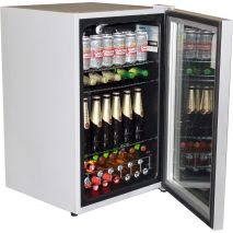 Husky CN130-Silver Glass Door Bar Fridge