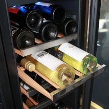 Glass Door Wine Fridge With Seamless SS Door Control