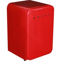 Red Husky Retro Fridge 110Litre Angle
