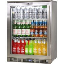 Rhino 1 Door Heated Glass Door Bar Fridge - Brand Parts Ensures Longevity, Great Warranty