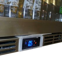 Rhino 1 Door Alfresco Outdoor Glass Door Bar Fridge Model GSP1H-840-SS display