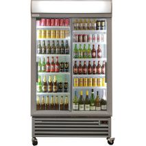 Staycold Sliding 2 Glass Door Commercial Upright Bar Fridge SD1140S