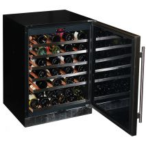 Under Bench Glass Door Wine Fridge Open