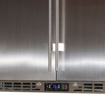 Rhino 2 Door All Stainless Steel Bar Fridge Controller and Grill