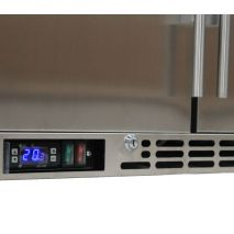 Rhino 3 Door Triple All Stainless Steel  Bar Fridge Control Grill