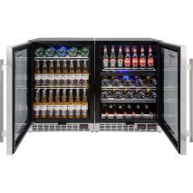Under Bench Beer And Wine Matching Bar Fridge Shelving Can Interchange Between Wine and Beer