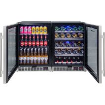 Under Bench Beer And Wine Matching Bar Fridges Quiet Running Controller