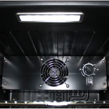 Glass Door Black Bar Fridge - Inner Fan For Even Air Distribution