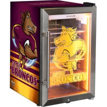 Brisbane Broncos NRL Club Branded Glass Door Bar Fridge