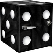 Retro Mini Black Dice Bar Fridge