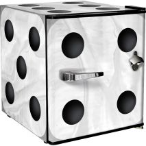 Retro Mini White Dice Bar Fridge