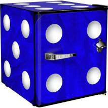 Retro Mini Blue Dice Bar Fridge