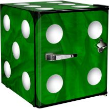 Retro Mini Green Dice Bar Fridge