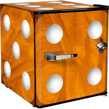 Retro Mini Orange Dice Bar Fridge