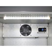 Husky Commercial Silver C1 Bar Fridge Led Lighting