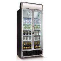 Husky 2 Glass Door Commercial Bar Fridge With Lightbox Added (see right of pics, + $100)